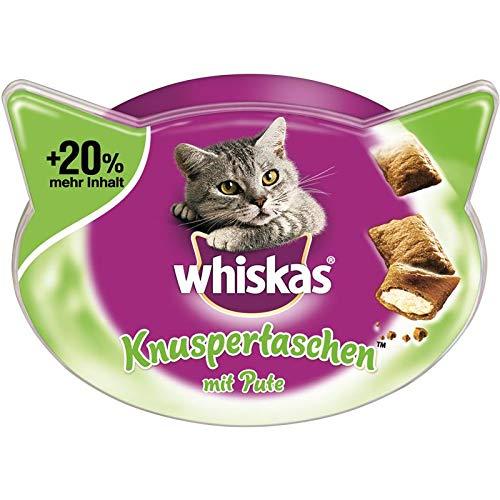 whiskas Knuspertaschen mit Pute   6X 72g Katzensnack