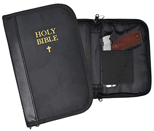 Garrison Grip Faux Leather & Canvas Lockable Bible Size Gun Case for Compact & Subcompact. Glock 26 27 33 39 42 43 Ruger LCR LC9 LCP S&W Bodyguard & 9mm 40cal Shield