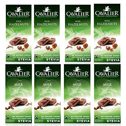 Cavalier-Cioccolato dolcificato con Stevia e senza aggiunta di zuccheri 8x85gr