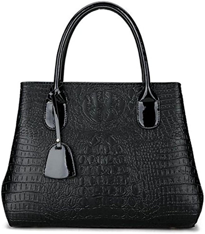 H&Y HY Frauen Beutel Polyester PU-Tasche mit Reiverschluss, Schwarz