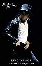 Pyramid America Michael Jackson King of Pop Memorial Dates Laminated Dry Erase Sign Poster 12x18