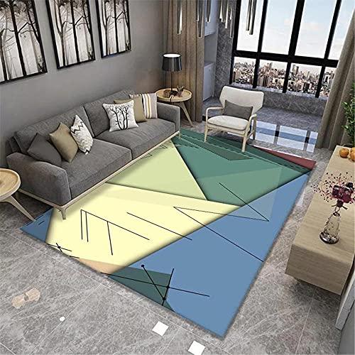 Color y patrón de Costura geométrica, Moda Simple, Antideslizante, cálido, Transpirable y fácil de cuidar, Corredor de Dormitorio Área de Cama Alfombra-40x60cm Estar Alfombra para Decoración In
