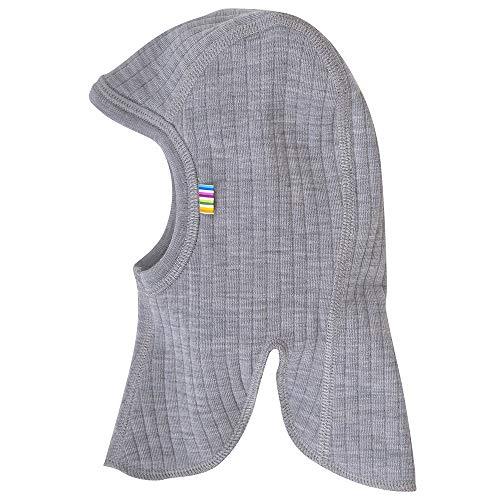 Joha Baby Kinder Unisex Schalmütze Balaclava aus Reiner Merino-Wolle, Größe:50, Farbe:grau Melange