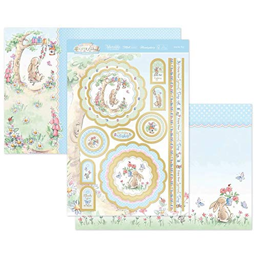 Hunkydory Crafts Acorn Wood Bunny's Special Day - Just for You Luxury Topper Set - Occasion Card Making Kit - AWOODBUNNY903