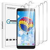 (3 Pack) Orzero Tempered Glass Screen Protector Compatible For Alcatel Onyx, Alcatel 1X (2019), 9 Hardness HD Anti-Scratch Full-Coverage (Lifetime Replacement)