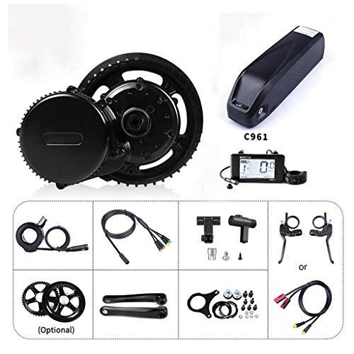 WBS-TIESEbike Kit 36V 250W Mid Drive Motor Electric Bike Conversion Kit Accessories Road Bike E-Bike Conversion Kit with 36V Ebike Battery,Hailong 36V 17.5Ah-36V250W52T