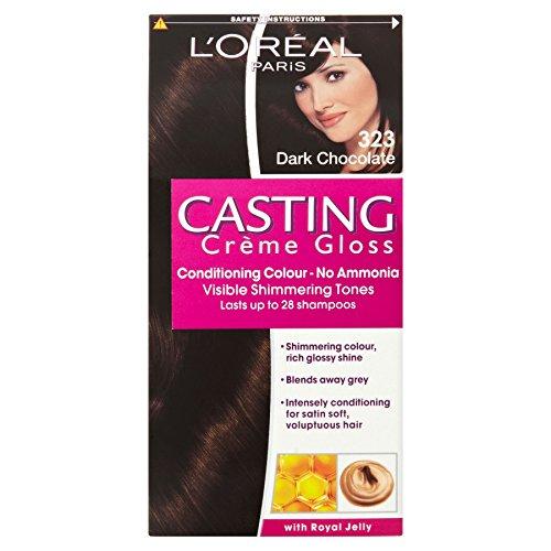 L'Oréal Paris Casting Cream Gloss 323 Lot de 3 flacons de crème de conditionnement Chocolat foncé