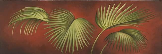 Palms On Burgundy 2 by Debra Lake Art Print, 30 x 10 inches