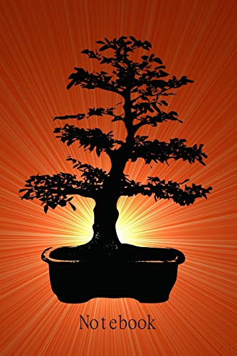 Notebook: Journal I Diary I 120 pages lined I Motive: Red Bonsai