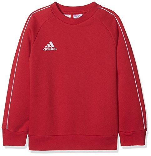adidas Core18 Sweat Top, Felpa Unisex Bambini, Rosso (Rosso/Bianco), 140 (9-10 Anni)