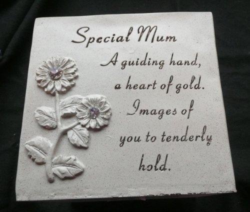 Mum Rose Bowl (Vase) memorial Ornament sunflowers & diamantes
