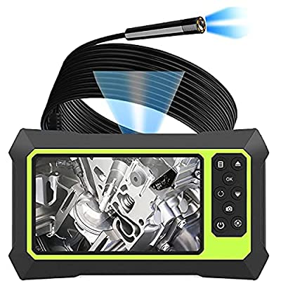 Upgraded Industrial Endoscope Camera with Lights, 1080P Pro HD Digital Borescope Camera 4.3 Inch LCD Screen Inspection Camera, Waterproof Snake Camera with 8 Bright LED Lights Gift for Men by Hengtai