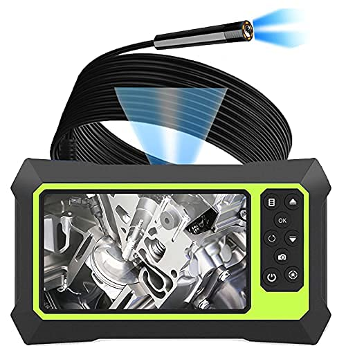 Upgraded Endoscope Camera with Lights, 1080P Pro HD Digital Borescope Camera 4.3 Inch LCD Screen Inspection Camera, IP67Waterproof Snake Camera with 8 Bright LED Lights,3000mAh Battery, 32GB TF Card