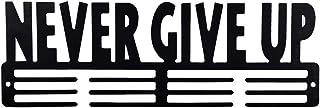 Never Give Up Medal Holder Display Hanger Rack Medals Black Medal Holder Wall Mount Medal Frame Holds Upto 24-30 Medals by...