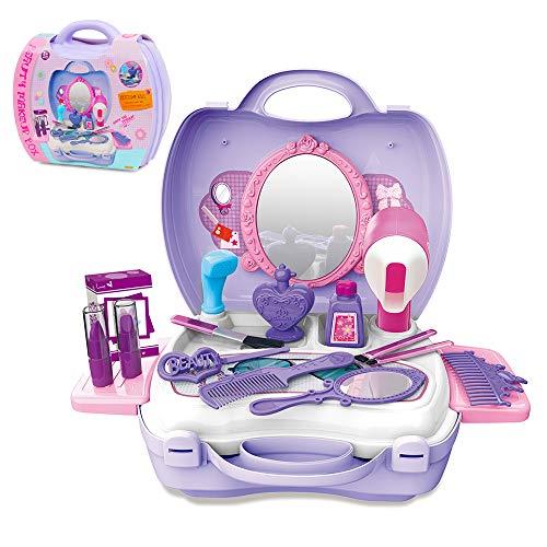 GizmoVine Schminkset Rollenspiel einstellen Kosmetik pädagogisches Baby Spielzeug mit Koffer für Mädchen Jungen