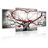 murando - Bilder Liebe 160x80 cm Vlies Leinwandbild 4 Teilig Kunstdruck modern Wandbilder XXL Wanddekoration Design Wand Bild - Love 5717