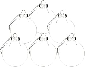 T-REASURE Pack of 6 Ornaments Clear Balls, 4inch DIY Clear Fillable Ornaments Ball Christmas Tree Decoration Balls for Home Party Wedding Birthday Christmas Decor