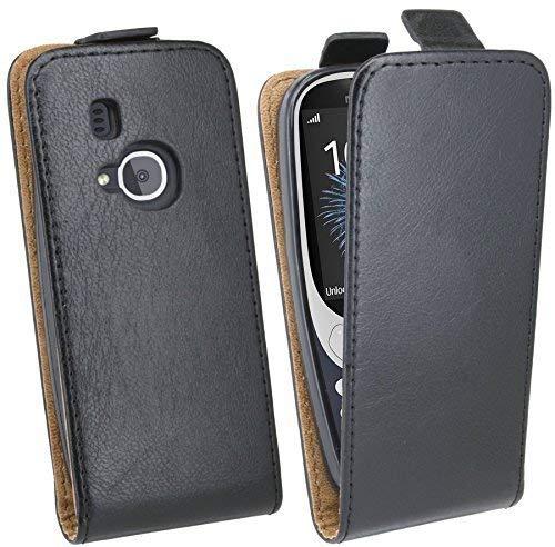 cofi1453 Handytasche Flip Style kompatibel mit Nokia 3310 (2017) in Schwarz Klapptasche Hülle