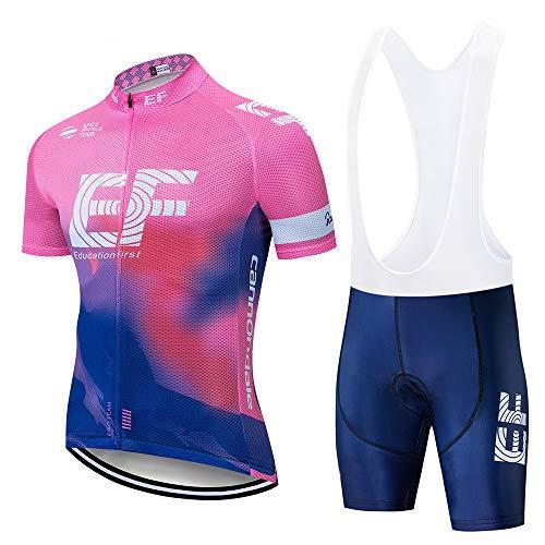 Maillot Ciclismo Corto para Hombre, Ropa Culote Conjunto Traje Culotte Deportivo con...