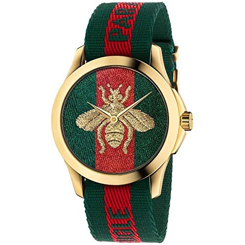 Gucci YA126487A Rot Stahl 316 L Unisex Uhr