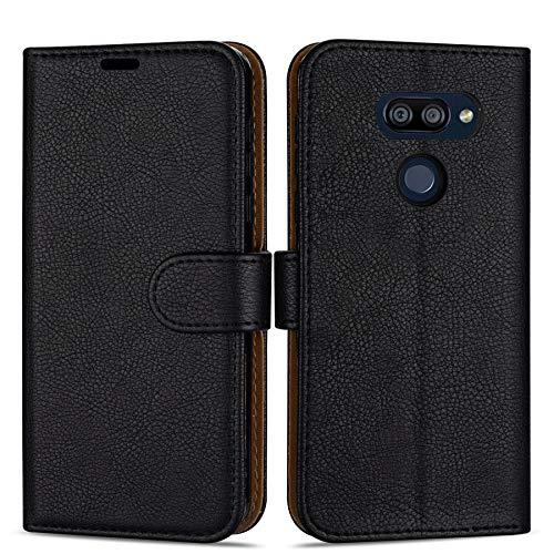 """Case Collection Hochwertige Leder hülle für LG K40S Hülle (6,1\"""") mit Kreditkarten, Geldfächern und Standfunktion für LG K40S Hülle"""