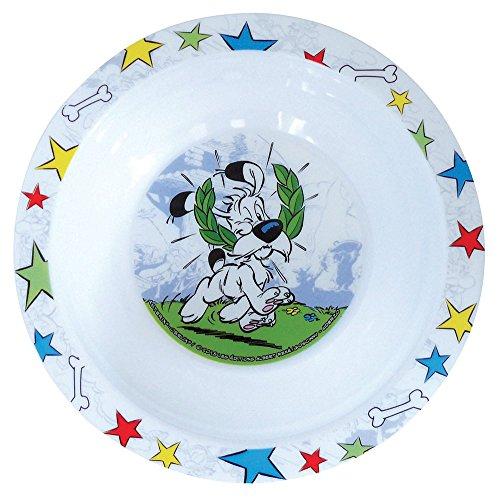 FUN HOUSE 005304 Asterix Bol Micro-ondable pour Enfant, PP, Blanc, 16 x 16 x 4 cm