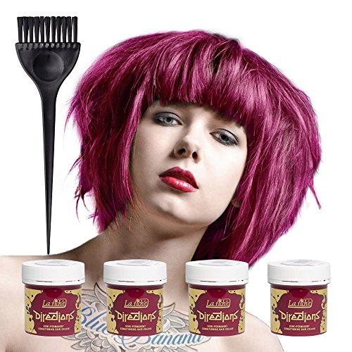4 x La Riche Directions Semi-Perm Hair Colour Cerise (ALL COLOURS Avail) 4x 88ml by La Riche