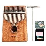 Elejolie Kalimba 17 Keys Thumb Piano Portable Beginner Piano Entry Finger Piano Mahogany Wood Best Gift for You