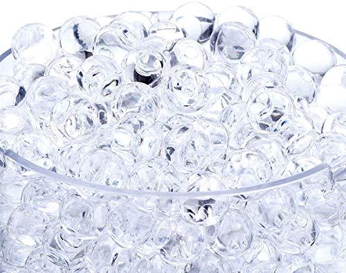 Miuezuth Wasserperlen für Pflanzen, 50000 STK Aquaperlen Orbeez Aqualinos, Gel-Perlen Wassergel-Kugeln Dekoration für Hochzeit Party, Gelperlen Wasserkugeln für Blumen Deko Vasen (Durchsichtig)