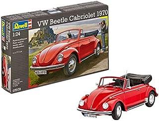 Revell-07078 Volkswagen VW Beetle Cabriolet 1970, Color Rojo (07078