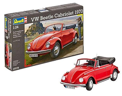 Revell Modellbausatz Auto 1:24 - Volkswagen VW Käfer Cabriolet 1970 (VW Beetle) im Maßstab 1:24, Level 4, originalgetreue Nachbildung mit vielen Details, 07078