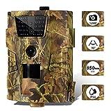 SUNTEKCAM Caméra de Chasse 12MP 1080P HD Étanche avec Vision Nocturne 65ft/20m 850nm LED Infrarouge Camera Detecteur de Mouvement Animaux pour la Surveillance de la Faune et la Sécurité Trail Camera