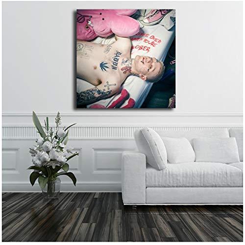 ad Ven Cuando estés Sobrio Álbum Lil Peep Poster Comics Pinturas sobre Lienzo Arte Moderno Decorativo Imágenes de Pared Decoración del hogar -60x60cm Sin Marco