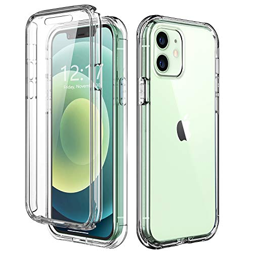 TOPSKY Case Compatible with iPhone 12 Pro/iPhone 12 6.1 inch 2020,Built-in Screen Protector Full Body Shockproof Heavy Duty Protection Durable Protective Strong Phone Cases Cover,Crystal Clear