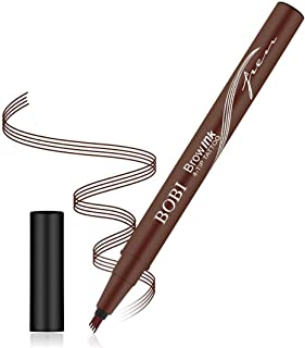 Four-fork liquid eyebrow pencil, four-fork eyebrow pencil, waterproof and sweat-proof (available in three colors)(02#Light Brown)