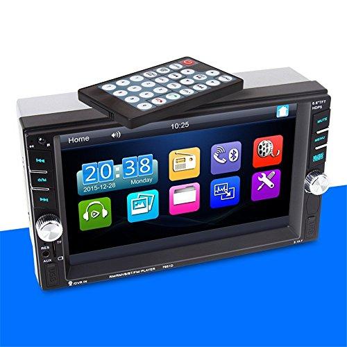 BoomBoost 2DIN Touch Bluetooth Lecteur MP5 USB/AUX/Remote Head Unit Autoradio Stéréo