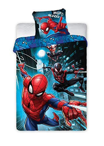 BrandMac Spiderman Marvel Bettwäsche 200 x 135cm, 80 x 80cm 100% Baumwolle