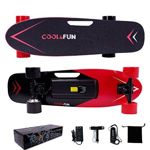 Cool/&Fun HB11 Electrico Skateboard Elettrico Longboard con Telecomando Senza Fili