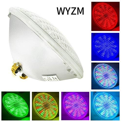 PAR56 LED Piscine,54W AC 12V RGB Télécommande Ampoule LED Piscine PAR56,Replace 300-500W Halogen Spotlight,IP68 Imperméable (Par56 54W-RGB)