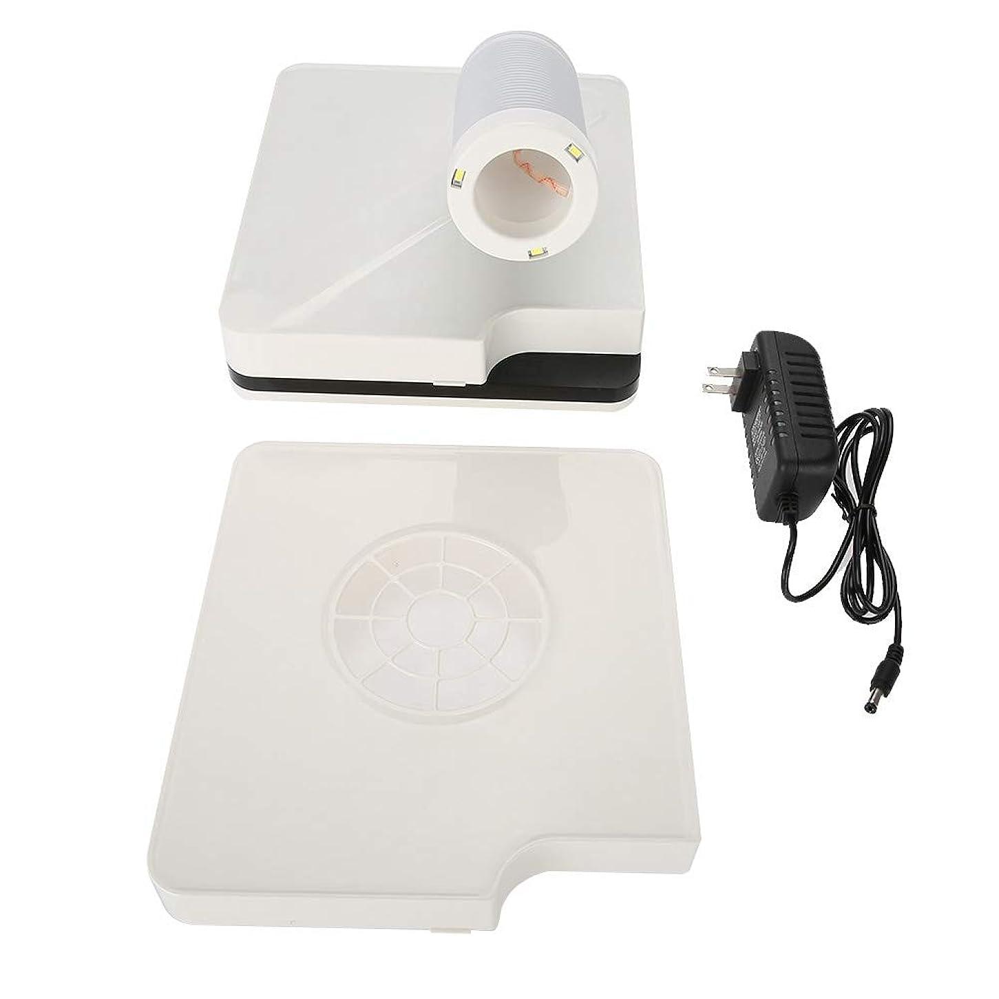 簡略化する可能にする地域ネイルダスト 集塵機 ダストコレクター ネイルケア 強い吸収力 60W ネイルダスト吸引 お手入れ簡単 ネイルファン (ホワイト 2in1)