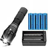 Best 18650 Battery Button Tops - Tactical LED Flashlight High Lumens Rechargeable 18650 Lion Review