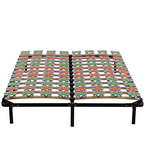 i-flair Lattenrost 160x200 cm Gästebett auf Füßen Lattenrahmen Tellerlattenrost Ergo IF57 - für alle Matratzen geeignet
