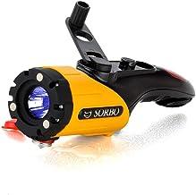 CHENTAOCS Hand-cranked Self-generating Flashlight Mobile Phone Charging Flashlight Multifunctional Vehicle Emergency (Colo...