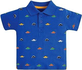 Camisa Polo para Niños Camiseta Manga Corta Dinosaurio de Dibujos Animados Algodón T-Shirt Tops Trajes de Verano