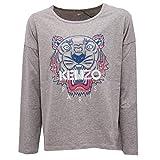 Kenzo 4602Z Maglia Bimba Girl Kids Grey Multicolor Cotton t-Shirt Long Sleeve [10 Years]
