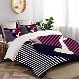 WINCAN - Funda de edredón de tamaño individual,diseño de estilo pop art de mujer,lujoso y suave juego de cama de 3 fotos incluye 1 funda de edredón (135x200cm) y 2 fundas de almohada (