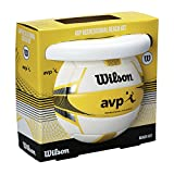 Wilson WTX0523KIT Set de Pelota de Voleibol Playa y Frisbee AVP Summer Kit Exterior Uso recreativo, Unisex Adulto, Blanco/Amarillo, Talla Única