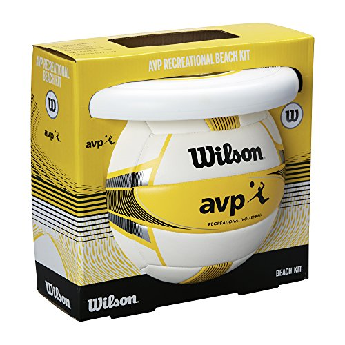 Wilson Unisex-Erwachsene AVP RECREATIONAL VB Volleyball, Yellow/Black/White, Official, WTX0523KIT
