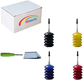 INKMATE Refill Ink for 4 x 30ml Fit 60 60XL 61 61XL 62 62XL 63 63XL 662 662XL 664 664XL Ink Cartridge