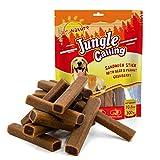 Jungle Calling Dolcetti Gommosi per Cani, Promozione della Salute Dentale, Dolcetti Digeribili per Tutti i Cani, Sandwich Stick (Manzo & Arachidi & Mirtilli Rossi) 300g